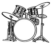 Drum Set 1 Decal Sticker