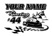 Personalized Go Kart Racing 1 Decal Sticker