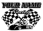 Personalized Go Kart Racing 2 Decal Sticker