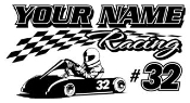 Personalized Go Kart Racing 5 Decal Sticker