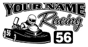 Personalized Go Kart Racing v7 Decal Sticker