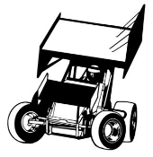 Sprint Car Front View v1 Decal Sticker