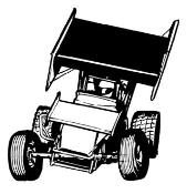 Sprint Car Front View v2 Decal Sticker