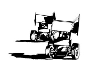 2 Sprint Cars Decal Sticker