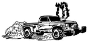 Pull Truck Decal Sticker