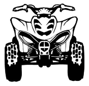 ATV Front View 1 Decal Sticker