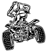 ATV Rear View 1 Decal Sticker