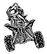 ATV Rear View 2 Decal Sticker