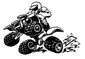 ATV Wheelie 2 Decal Sticker