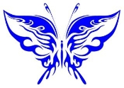 Tribal Butterfly 3 Decal Sticker