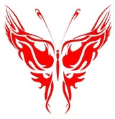 Tribal Butterfly 4 Decal Sticker
