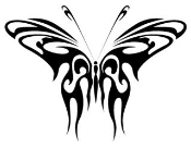 Tribal Butterfly 5 Decal Sticker