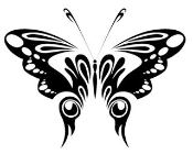 Tribal Butterfly 6 Decal Sticker