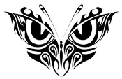 Tribal Butterfly 7 Decal Sticker