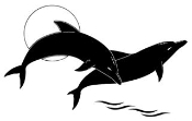 2 Dolphins Decal Sticker
