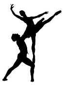2 Dancers Silhouette v5  Decal Sticker