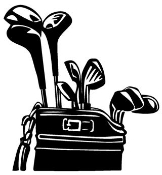 Golf Clubs v1 Decal Sticker