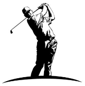 Golfer v1 Decal Sticker