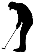 Golfer Silhouette v5 Decal Sticker