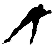 Speed Skater Silhouette Decal Sticker