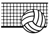 Volleyball and Net v2 Decal Sticker
