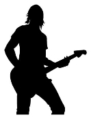 Guitarist 1 Decal Sticker