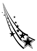 Shooting Stars 2 Decal Sticker