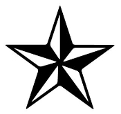 Star 2 Decal Sticker