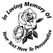 Memorial with Roses 2 Decal Sticker