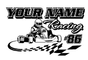 Personalized Shifter Kart Racing 1 Decal Sticker