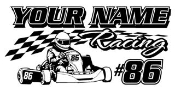 Personalized Shifter Kart Racing 4 Decal Sticker