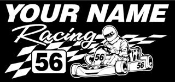 Personalized Shifter Kart Racing 6 Decal Sticker