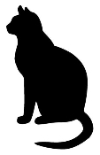 Cat Silhouette Decal Sticker