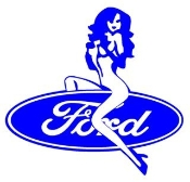Ford Girl 2 Decal Sticker