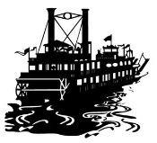 Riverboat Decal Sticker