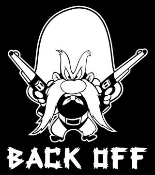 Yosemite Sam Back Off Decal Sticker