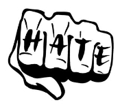 Hate Fist Decal Sticker