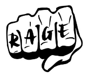 Rage Fist Decal Sticker