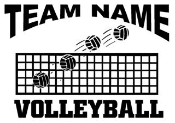 Personalized Volleyball v1 Decal Sticker