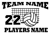 Personalized Volleyball v2 Decal Sticker