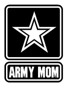 Army Mom Decal Sticker