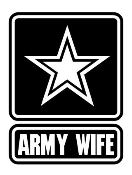Army Wife Decal Sticker