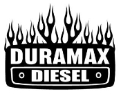 Duramax Diesel with Flames Decal Sticker