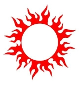 Tribal Sun Decal Sticker