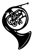 French Horn Decal Sticker