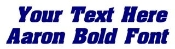Aaron Bold Font Decal Sticker