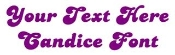 Candice Font Decal Sticker