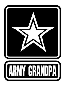 Army Grandpa Decal Sticker