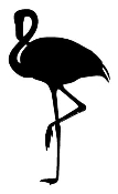 Flamingo Silhouette 2 Decal Sticker