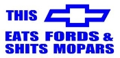 Chevy Eats Fords Decal Sticker